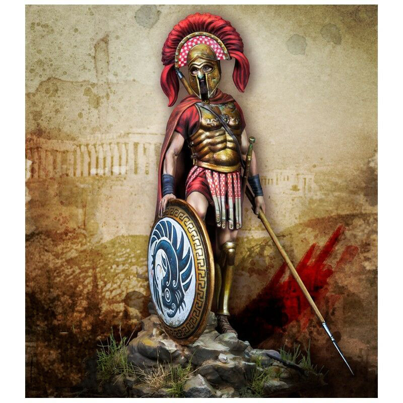 1/24 75mm   Ancient Officer Greek Warrior With Base  Resin Figure Model Kits Miniature Gk Unassembly Unpainted
