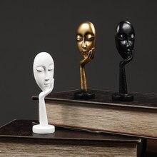 Mini pensar sobre figura escultura resina estátua artesanato ornamento mesa ornamento festival presente