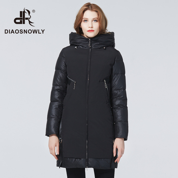 Diaosnowly New Winter thick jacket for women 2020 fashion thick coats for women hooded long jackets woman parka long warm Winter clothes female new fashion women female korean short type long sleeve slim motor zipper leather jackets coats