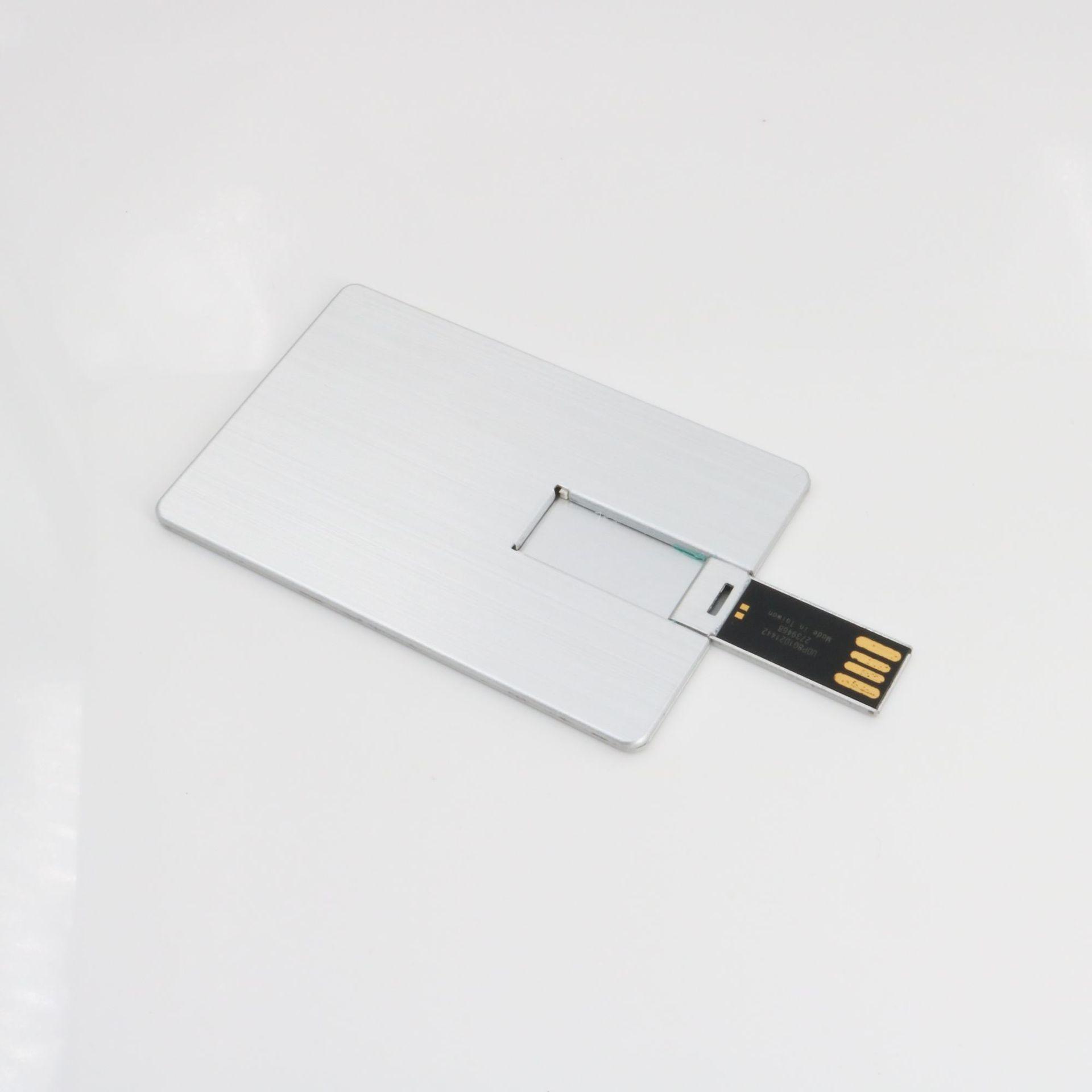 Ультра-тонкая металлическая карта U диск настраиваемый подарок USB накопитель алюминиевый сплав визитная карточка USB накопитель торги USB