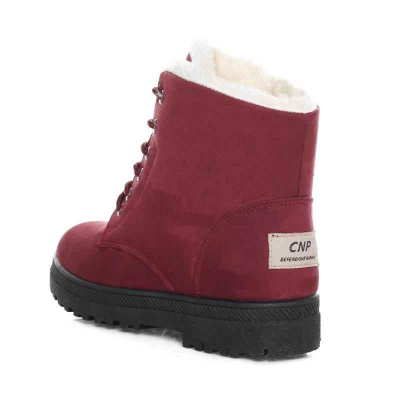 2019 botas de Invierno para mujer nuevas botas de invierno botas de nieve para mujer botas cálidas de gamuza botas 35-44