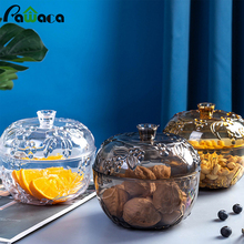Containers Sugar-Bowl Snacks Food-Storage-Jar Dried-Fruit Candy Transparent Plastic Nordic