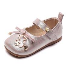 Туфли для маленьких девочек милый Мишка принцессы с бантом и