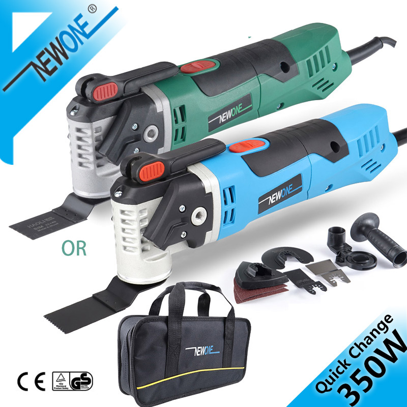 350W Quick Release Trimmer Tool Multi-Function Oscillating Saw Blade Electric Quick Change Renovator Tools With Woodblades NEWON