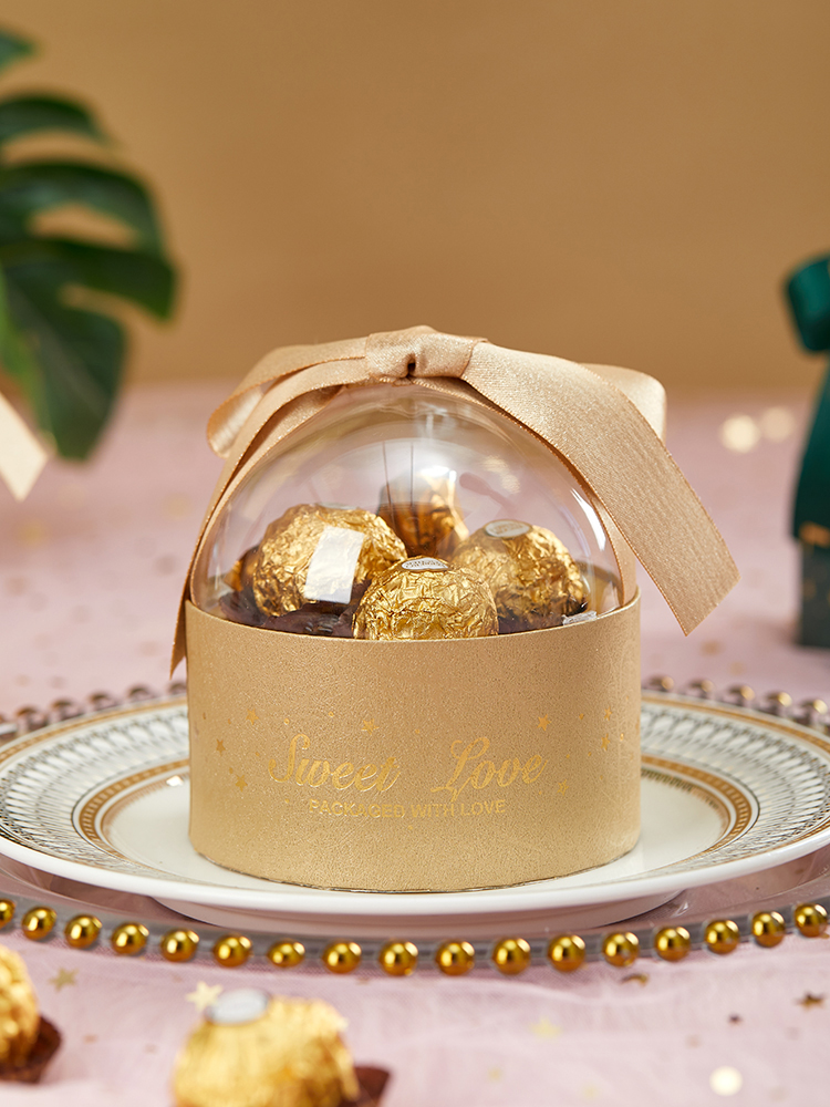 Round Box Christmas Acrylic Package Lot Candy Creative Box Transparent Gift Chocolate Pcs Wedding Party Ball Supplies Boxes 10