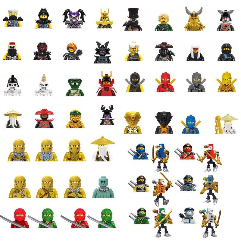 Фигурки Ниндзя из японского аниме-фильма, конструктор, скелет, человек, змея, самурайский герой, фигурка, набор кирпичей для мальчиков, игруш...