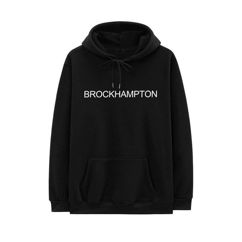 2020 New Arrival Man Hoodies Fleece Brockhampton Letter Print Hoodie Casual Pullover Sweatshirts Hip Hop Streetwear Hoody Homme