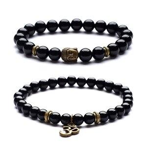 Image 2 - Bracelet pendentif de Yoga, Vintage, breloque, bijou de méditation religieuse, bouddha pour hommes, nouveauté, pierre naturelle, Bracelets pour femme