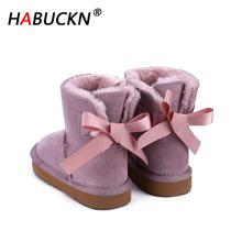HABUCKN 2020 Fashion Pretty Children's Warm Snow Boots Winte