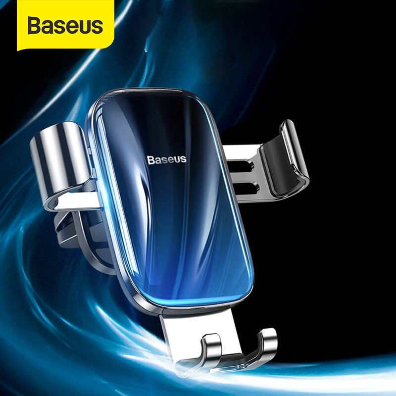 Baseus Car Phone Holder Gravity Auto Stand For Samsung Xiaomi Mobile Phone Support Car Interior Accessories Car Mount