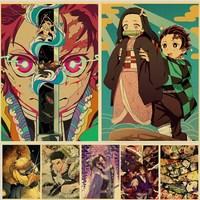 Dämon Slayer: Kimetsu keine Yaiba Poster Kamado Tanjirou Agatsuma Zenitsu Neue Poster Startseite Zimmer Decor Kunst Anime Wand Aufkleber