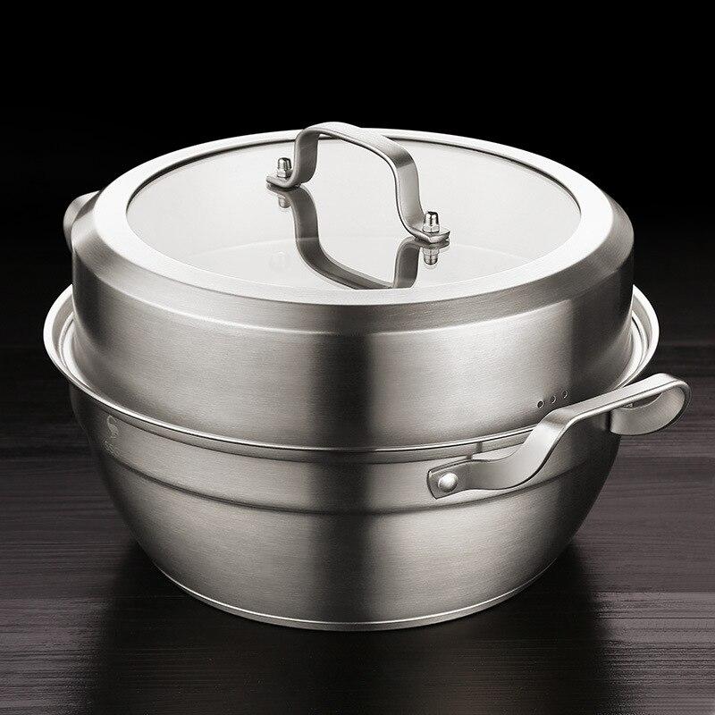 304 marmite allemagne acier inoxydable Double face marmite ménage grande capacité épais Double fond Pot soupe CoYing Pot Cousco