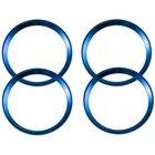 4 Pieces Blue Alloy ...