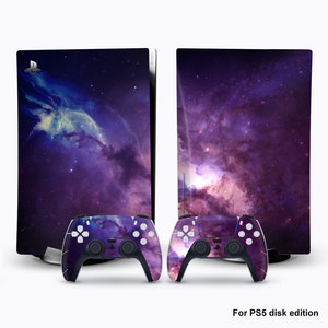Image 4 - For PS5 Console Disk Edition Carbon Fiber Skin Decal Cover for PlayStation 5 Console Glaxy Sticker For PS5 Accessories