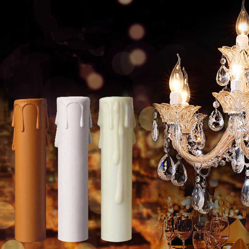 10pcs Candle Lamp Holder Tube, Candle Lamp Base Sleeve Candle Bulb Base Cover