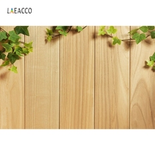 Laeacco Wooden Board Leaves Customized Ad Scene Photographic Backdrops Photography Backgrounds Flowers Props For Photo Studio