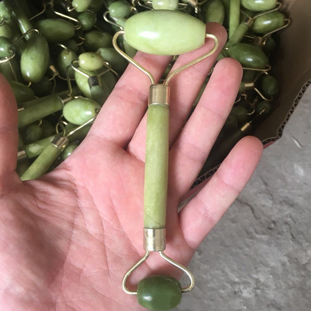 Natural stone Facial Beauty Massage Face Lift Tools artificial Jade Roller Face Thin massager Face Skin Care Tools Dropshipping 2