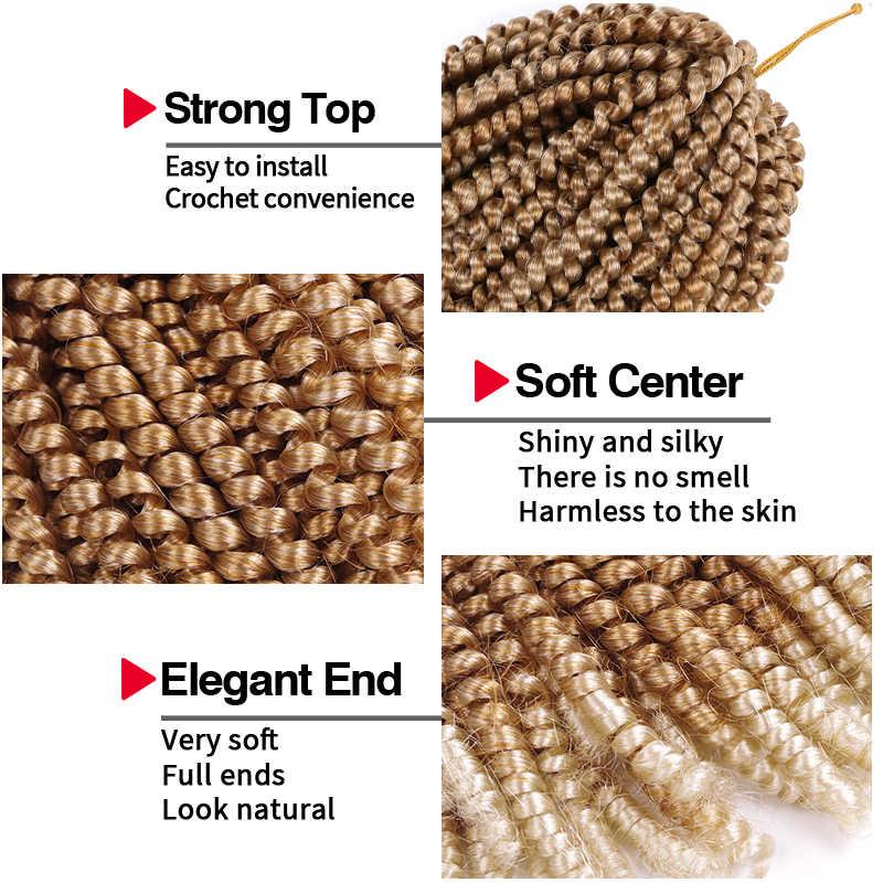 Lente Twist Haak Hair Ombre Vlechten Hair Extensions Passie Wendingen Tresse Pluizige Synthetische Korte Gehaakte Vlechten Krullend Haar