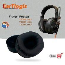 EarTlogis için yedek kulak pedleri Fostex T20RP, T40RP, T50RP MK3, T 20 40 50 RP kulaklık parçaları kulaklık kapağı yastık bardak yastık
