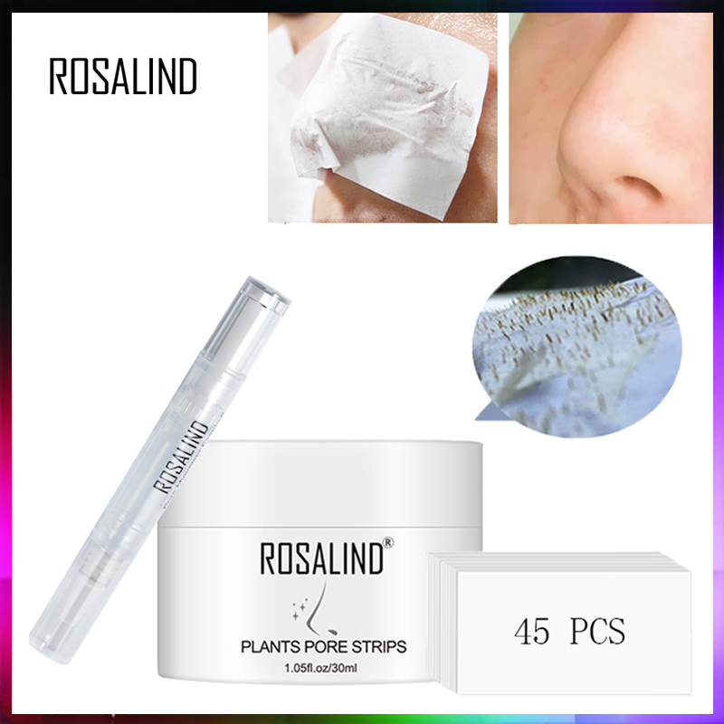 ROSALIND Face Masks Facial From Black Dots Remove Blackhead Acne Nose Peeling Fabric Mask For The Face Lifting Cream Skin Care image