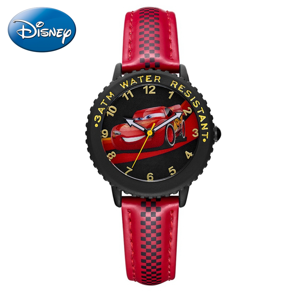 Lightning McQueen Jackson Storm Child Quartz Luxury Disney Watch Boys Sports Water Resistant Watches Students Time Kids Clock