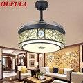 Современный подвесной вентилятор лампы современный вентилятор пульт дистанционного управления люстра-вентилятор столовая спальня рестор...