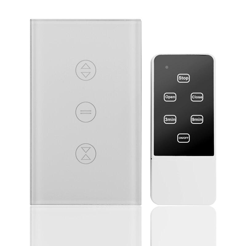 Smart WiFi Curtain Blinds Switch For Roller Shutter Electric Tubular Motor Google Home Alexa Echo Smart Home App Timer (US Plug)