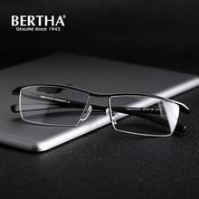 BERTHA Pure Titanium Half Glasses Frame Men Business Eyewear