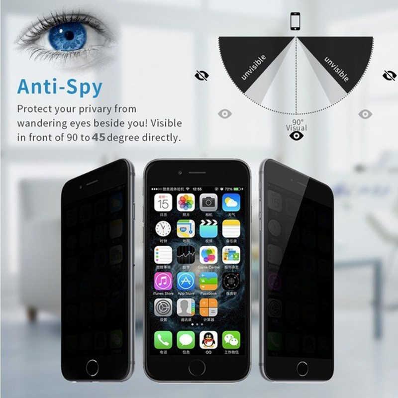 1 PC פרטיות מגן קולנוע מזג זכוכית Antispy מסך מגיני סרט עבור IPhone 11 11pro X XS XR מסך סרט מגן