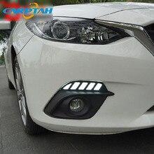 For Mazda 3 2014 2015 2016 Dynamic Turn Signal Relay Waterproof Car DRL 12V LED Daytime Running Light Fog Lamp Decoration