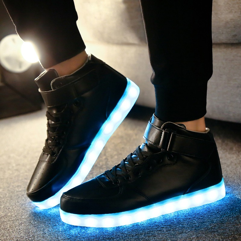 RayZing Men's Led Shoes USB Rechargeable Fashion Luminous Sneakers For Men Women Party Shoes Adult Wedding Shoes Glowing Shoes