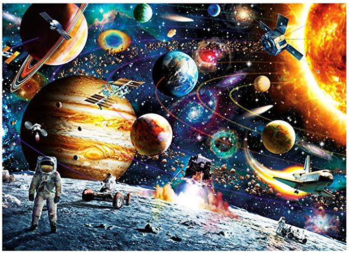 1000 Piece Space Puzzle  Jigsaw Puzzle Kids Adult - Planets In Space Jigsaw Puzzle Party Favors Kids Gifts