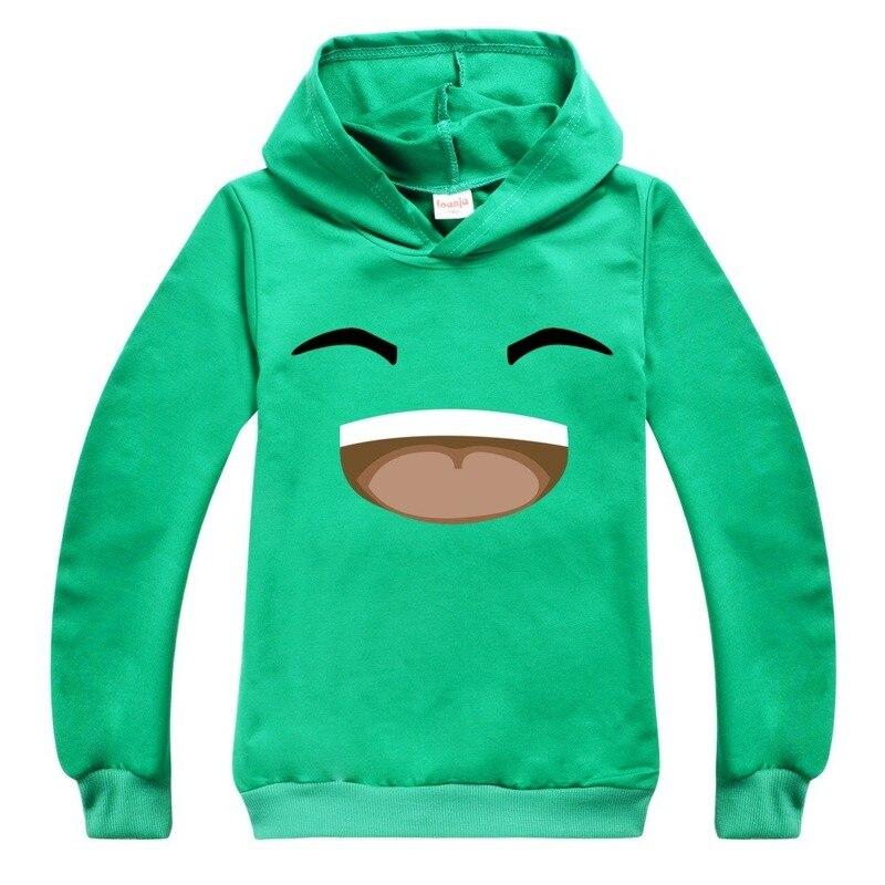 Желейно-зеленые детские толстовки с капюшоном для мальчиков, футболки, детская хлопковая толстовка с капюшоном, Мультяшные топы для мальчи...