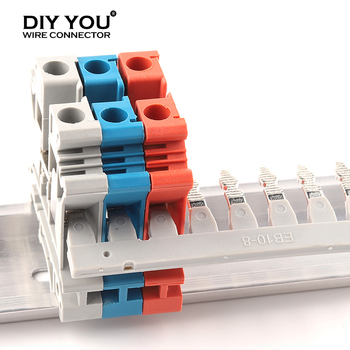 1 PCS Insertion bridge For UK DIN Rail Type Terminal Blocks Accessories EB10-6 for UK-2.5B 5N/EB10-5 For UK-3N/EB10-8 For UK-6N fbs 2 5 3 5 4 5 5 5 10 5center contact fixed bridge plug in bridge for st2 5 din rail terminal blocks accessories