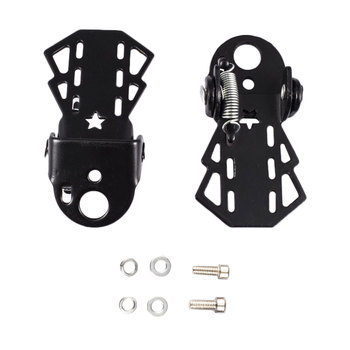 Metal Rear Pedal of Bicycle Universal Bicycle Rear Seat Pedal Mountain Bike Foot Plat Anti-slip Standard Universally Pedals image