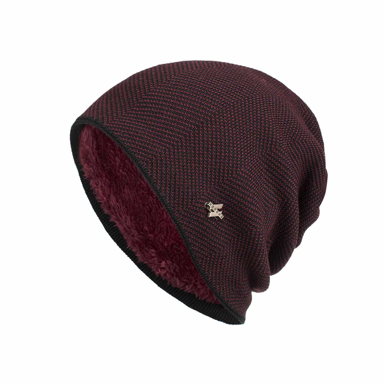 ผู้ชายฤดูหนาว WARM หมวกใหม่แฟชั่นผู้ใหญ่ Unisex ถัก Casual Beanies Skullies ขนสัตว์หมวกยี่ห้อกลางแจ้ง Gorros