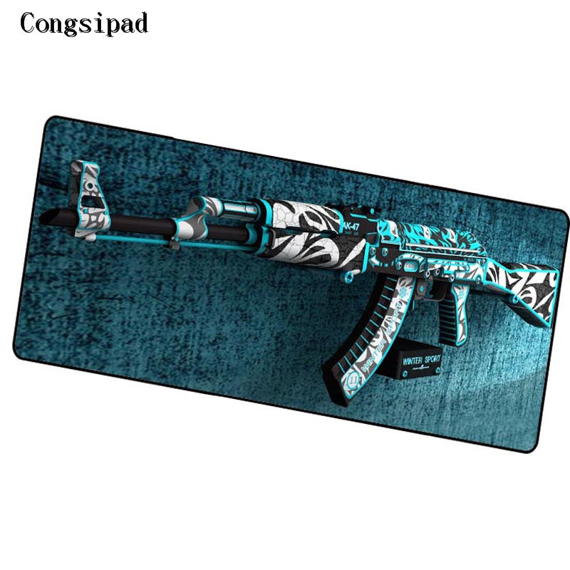 Congsipad Shop CS GO Locking Edge Large Gaming Mouse Pad Pad for PC Computer Laptop Notbook for League of Legends Free Shipping
