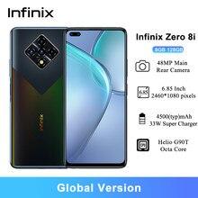 Infinix-teléfono móvil inteligente Zero 8i versión Global, smartphone con pantalla de 6,85 pulgadas, cámara frontal de 16MP, batería de 4500mAh, cargador de 33W, 8GB de RAM, 128GB ROM