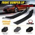2x углерод вид/Черный Автомобильный передний бампер сплиттерная губа Spolier диффузор защитный корпус для Honda Для Civic Sedan 4Dr 2016-2018