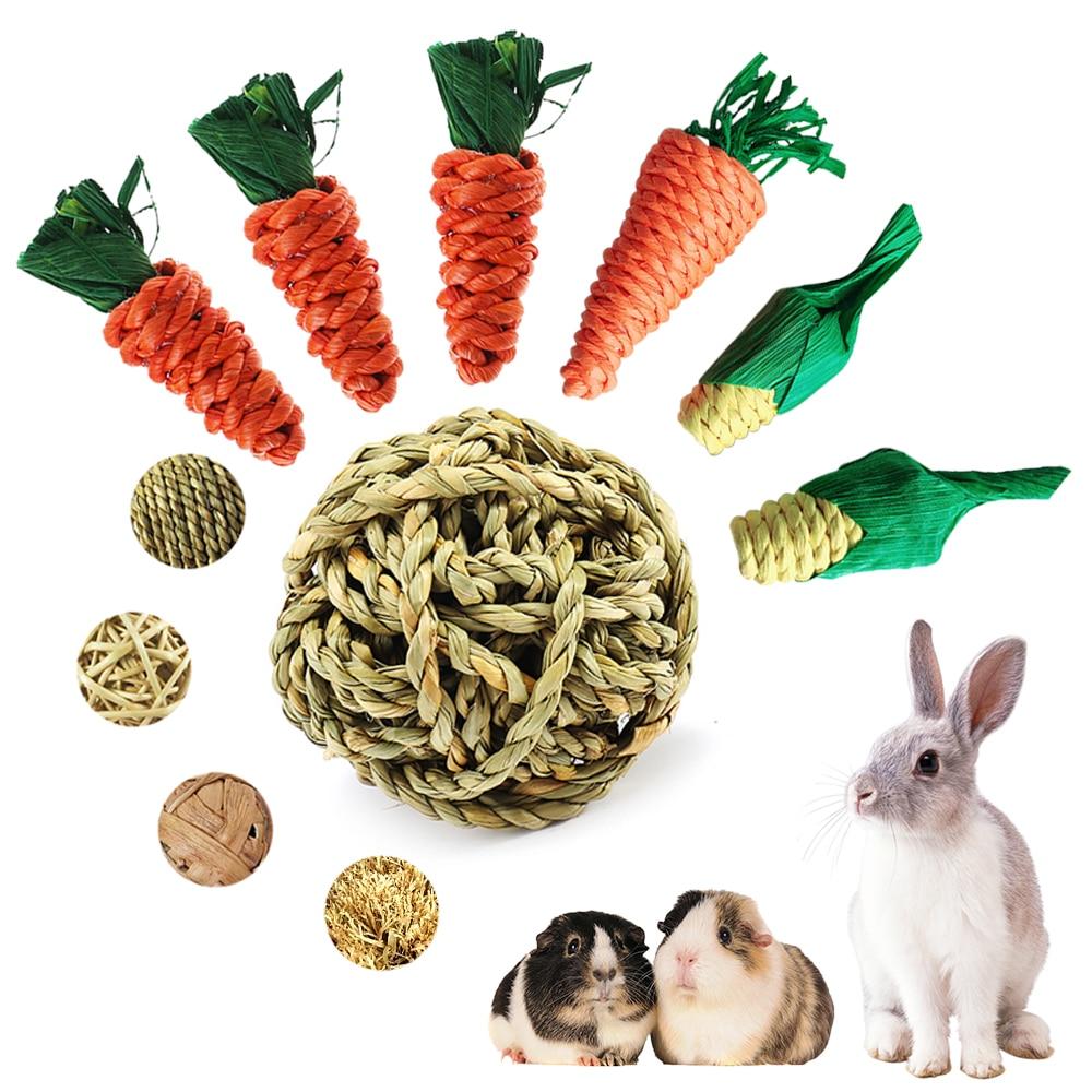 Игрушка для жевания хомяк, кролик, кусачки, зубы, игрушки, кукуруза, морковь, тканые шарики для чистки зубов, редис, моляр, игрушки, товары для ...