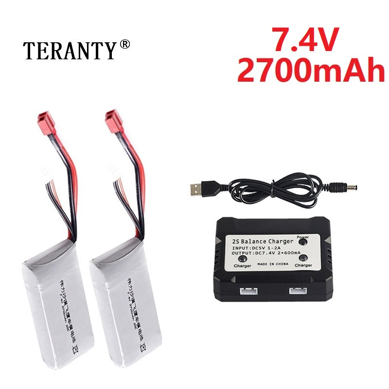 Upgrade 2700mah For Wltoys 12428 12423 RC Four-wheel Remote Control Vehicle Car 2s 7.4v Lipo Battery Feiyue 03 Q39 RC Parts