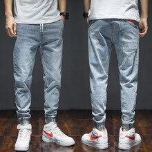 Fashion Streetwear Men Jeans Loose Fit Large Size M-7XL Slack Bottom Joggers Cargo Pants Red Printed Designer Hip Hop