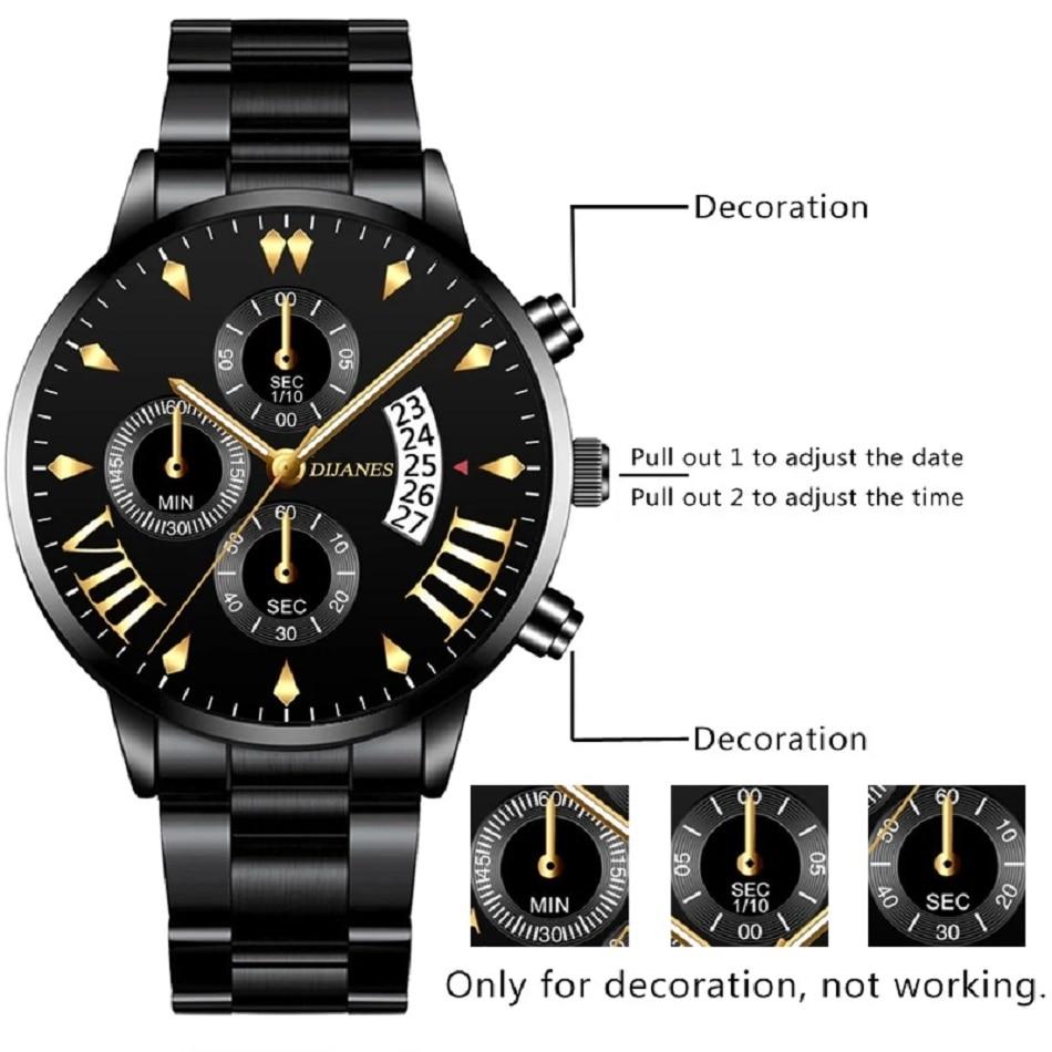 Relogio Masculino 2021 Quartz Delicate watch For Men's Gold Bracelet