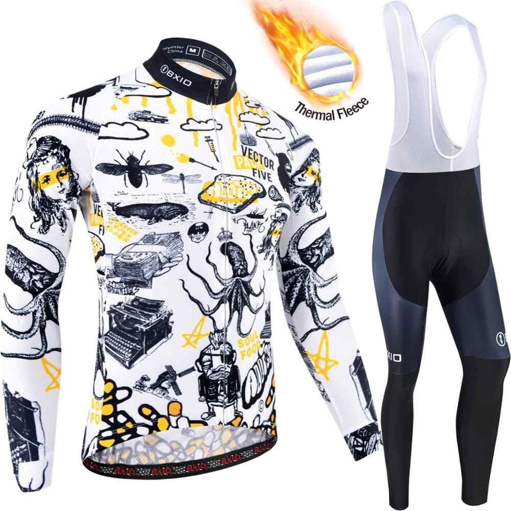 Men/'s Cycling Sets Skeleton Long Sleeve Jersey Padded Pants Bike Bicycle Tights
