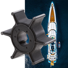 1 Pcs Water Pump Impeller Boat Engine 6 Blades For Yamaha 4HP 5HP Outboard Motor Etc Replace 6E0-44352-00-00 Parts