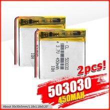Batterie polymère 450 mah 3.7 V 503030 smart home MP3 haut-parleurs Li-ion batterie pour dvr,GPS,mp3,mp4, montre intelligente, haut-parleur lumière LED