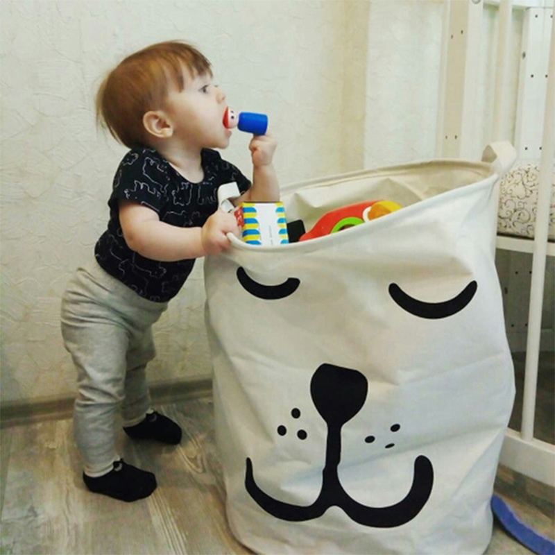 Cartoon Storage Bags Kids Toy Storage Bag Canvas Backpack Baby Clothes Clothings Laundry Bag Children Room Organizer Pouch
