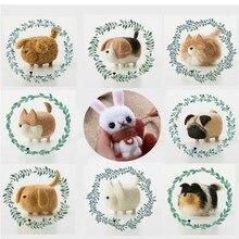 DIY Wool Felt Handmade Animal Non Finished Shiba Inu No Face Dog Toy Needle Felting Tools Release Pressure Craft Kit