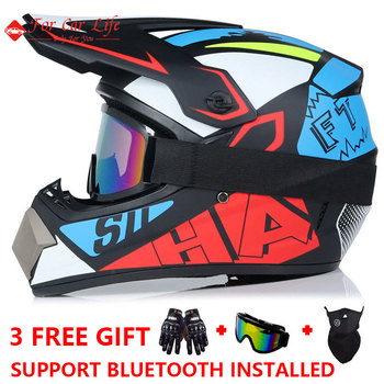 Adult Motorcycle Helmet Cross Country ATV Off-road Vehicle Downhill Mountain Bike DH Racing Capacetes