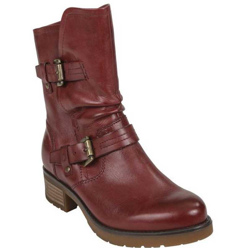 2019 kadın botları moda rahat bayan ayakkabı botları süet deri toka çizmeler yüksek topuklu kar ayakkabıları Femme için bayan ayakkabıları